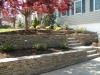 Landscape Lighting and Retaining Wall