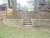 Retaining Wall and Walkway